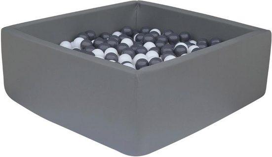 Knorrtoys® Bällebad »Dark grey«, mit 100 Bällen grey/white