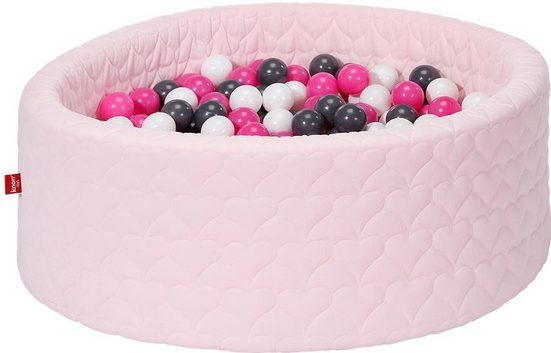 Knorrtoys® Bällebad »Cosy, heart rose«, mit 300 Bällen creme/grey/rose