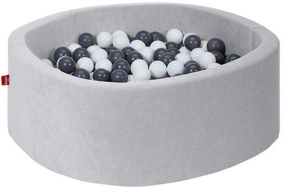 Knorrtoys® Bällebad »Soft, grey«, mit 300 Bällen grey/creme; Made in Europe