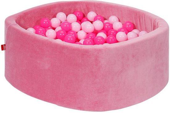 Knorrtoys® Bällebad »Soft, pink«, mit 300 Bällen soft pink; Made in Europe