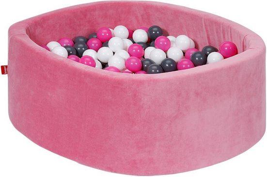 Knorrtoys® Bällebad »Soft, pink«, mit 300 Bällen creme/grey/rose