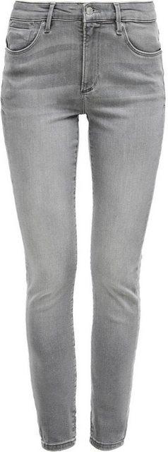 Hosen - s.Oliver Skinny fit Jeans »Izabell« in coolen, unterschiedlichen Waschungen › grau  - Onlineshop OTTO