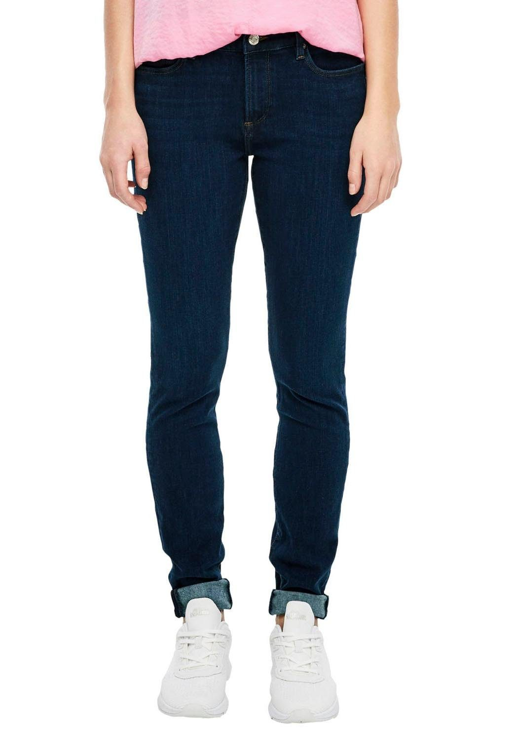 Aniston Jeans 17 Stretch Röhrenjeans 34 Denim Used Blau Damen Hose Sterne NEU