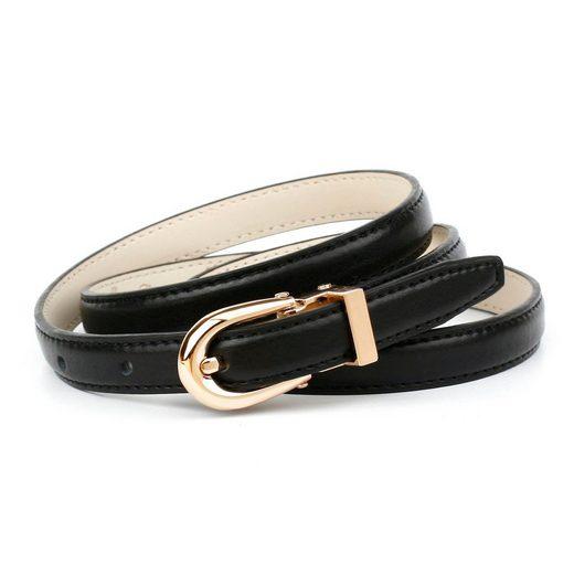 Anthoni Crown Ledergürtel in Hirschprägung, mit ovaler Schließe