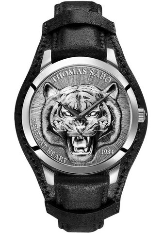 THOMAS SABO Laikrodis »Rebel Tiger 3D schwarz-silb...