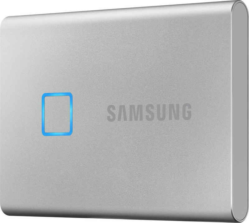 Samsung »Portable SSD T7 Touch« externe SSD (500 GB) 1050 MB/S Lesegeschwindigkeit, 1000 MB/S Schreibgeschwindigkeit)