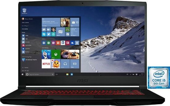 MSI GF63 9SC-836 Thin Notebook (39,6 cm/15,6 Zoll, Intel Core i5, GeForce, 512 GB SSD)