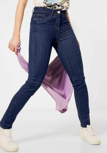Cecil Skinny-fit-Jeans »Toronto« in dunkler Waschung