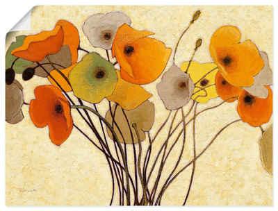Artland Wandbild »Kürbismohn I«, Blumen (1 Stück), in vielen Größen & Produktarten -Leinwandbild, Poster, Wandaufkleber / Wandtattoo auch für Badezimmer geeignet