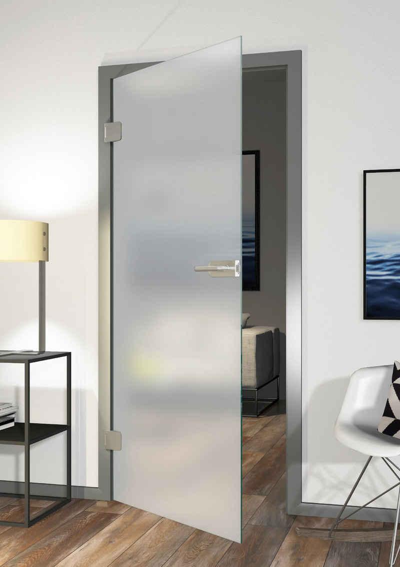 Glastür »Eivind, Satinato«, 83,4x197,2 cm, DIN links