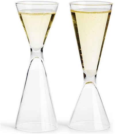 sagaform Schnapsglas, Glas, Holz, beidseitig befüllbar, inkl. Aufbewahrungsbox, 6-teilig