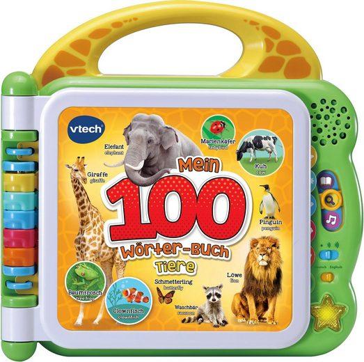 Vtech® Buch »Mein 100-Wörter-Buch: Tiere, grün«, mit Licht und Sound