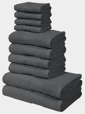my home Handtuch Set »Ally« (Set, 10-tlg), in dezenten Unifarben (10tlg)