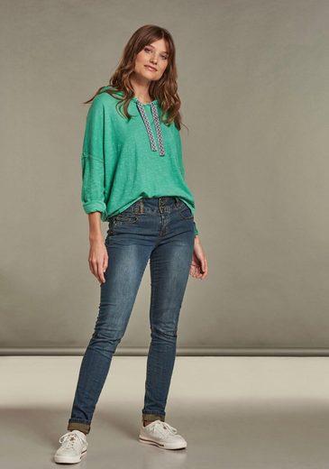 NILE Slim-fit-Jeans mit geradem, schmalem Beinverlauf