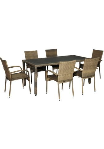 PLOSS Balkono baldai »Rabida« 13-tlg. 6 kėdė...