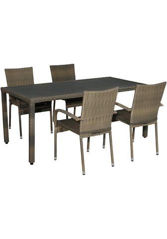PLOSS Balkono baldai »Rabida« 9-tlg. 4 kėdė ...