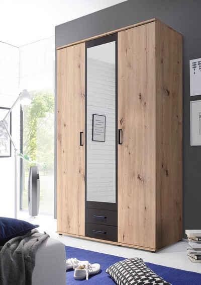 Schlafkontor Drehtürenschrank im modernen Dekor Artisan Eiche