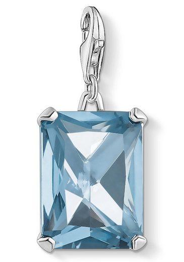 THOMAS SABO Charm-Einhänger »Großer Stein blau, 1846-009-1«, mit synth. Spinell