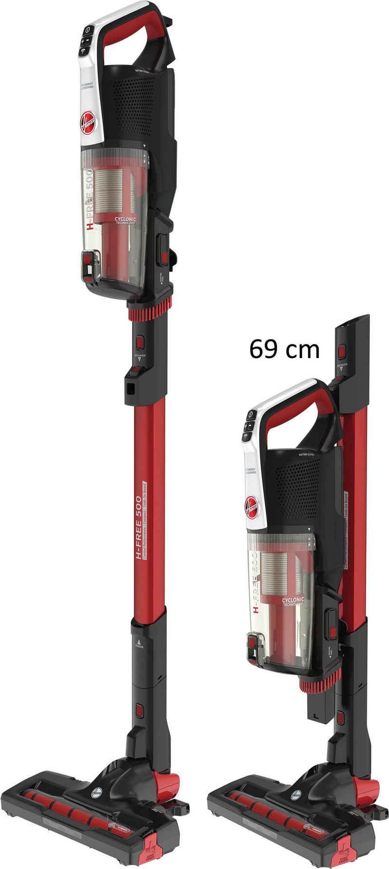 Hoover Akku-Stielstaubsauger H-FREE 500 Compact Connected Power, HF522REW 011, beutellos