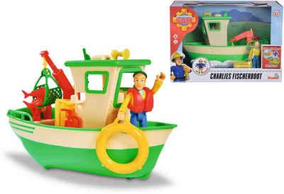 SIMBA Spielzeug-Boot »Feuerwehrmann Sam, Charlies Fischerboot«, mit Figur