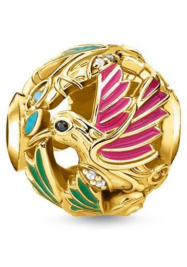 THOMAS SABO Bead »Kolibri gold, K0338-471-7«, mit synth. Korund, Glassteinen und Zirkonia