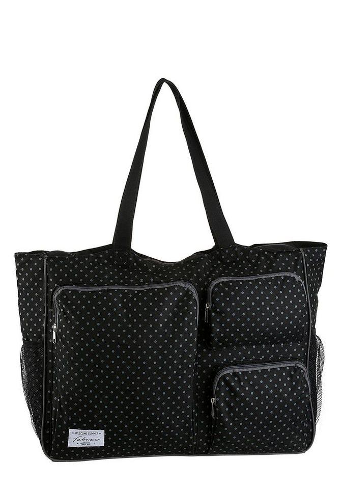 fabrizio® -  Strandtasche, mit vielen Reißverschluss-Taschen, perfekt für den Strand