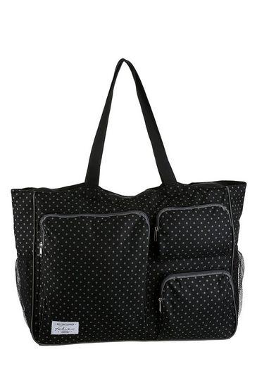 fabrizio® Strandtasche, mit vielen Reißverschluss-Taschen, perfekt für den Strand