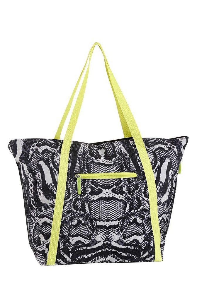 fabrizio® -  Strandtasche, in modischer Animal Optik mit viel Stauraum für Badeutensilien