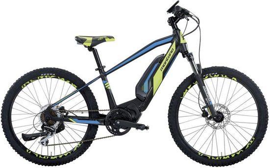 Montana Fahrräder E-Bike »E-JET MTB«, 7 Gang Shimano ACERA Schaltwerk, Kettenschaltung, Mittelmotor 250 W