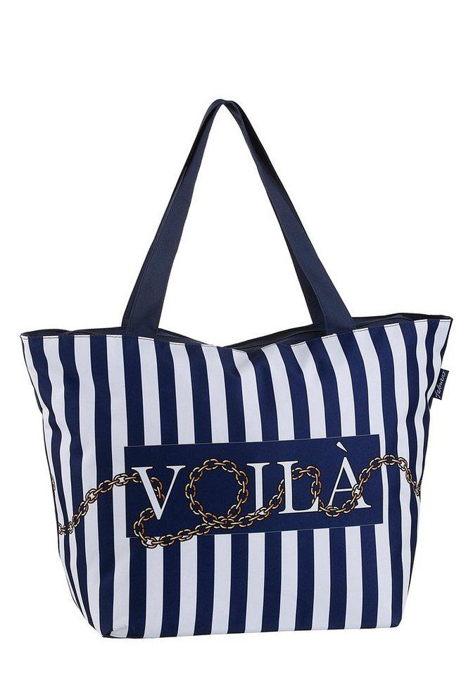 fabrizio® -  Strandtasche, in maritimer Optik, perfekt für den Badeurlaub