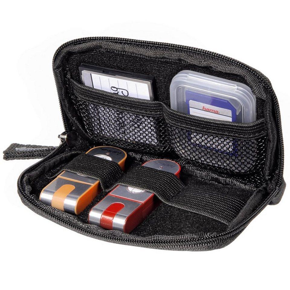 Hama Memory Card-/USB-Stick-Tasche Orlando, Schwarz in Schwarz