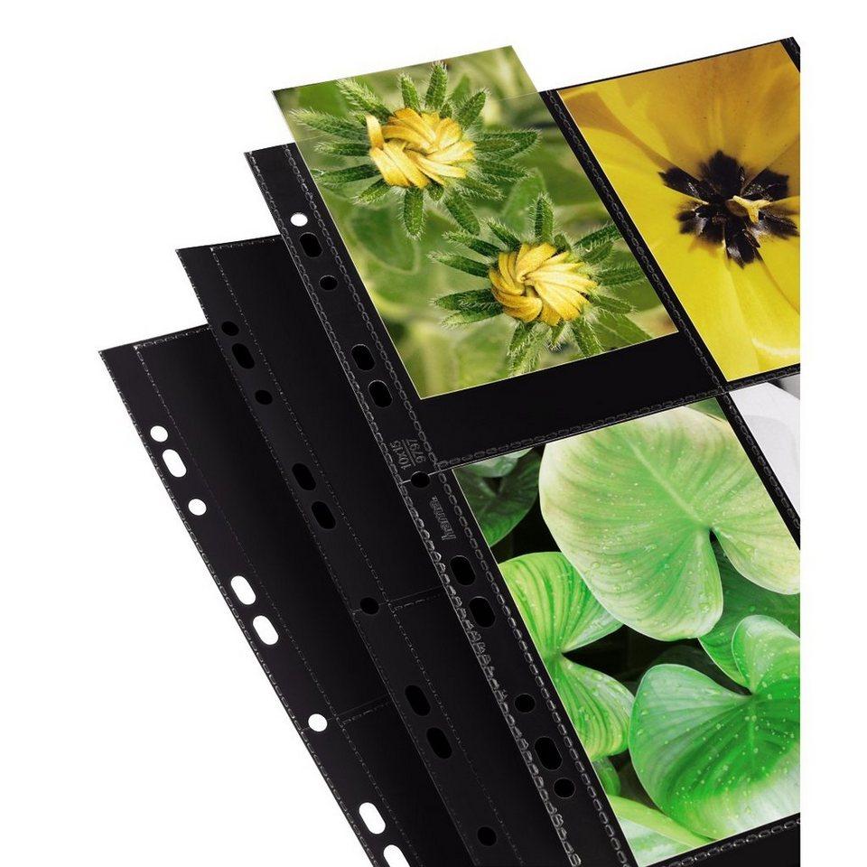 Hama Foto-Hüllen, DIN A4, für 8 Fotos im Format 10x15 cm, Schwarz in Schwarz