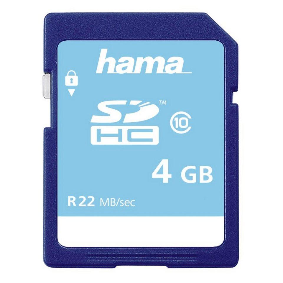 Hama Speicherkarte SDHC 4GB Class 10 »geeignet für HD-Videoaufnahmen« in Blau