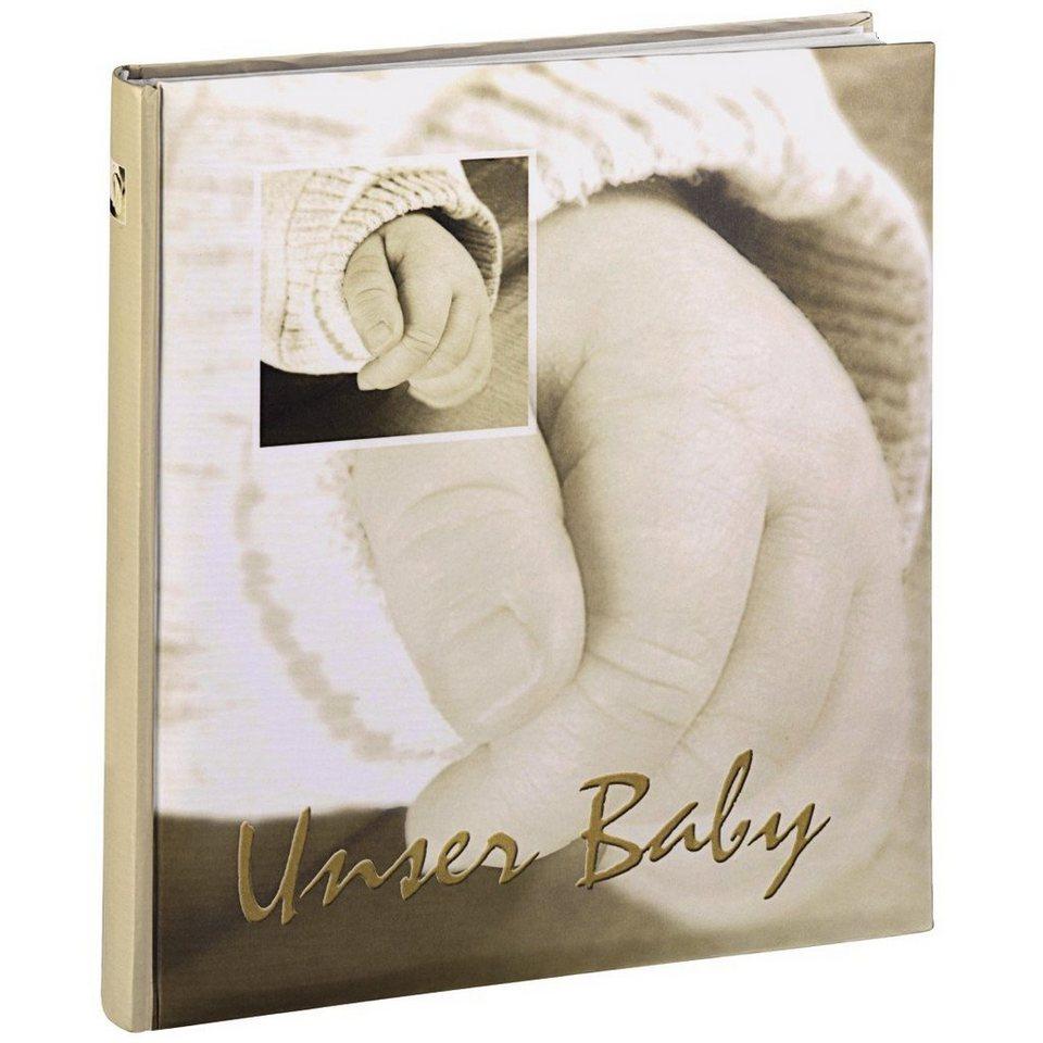 """Hama Babyalbum """"Baby Hands"""", 29x32 cm, 60 weiße Seiten in Naturfarben"""