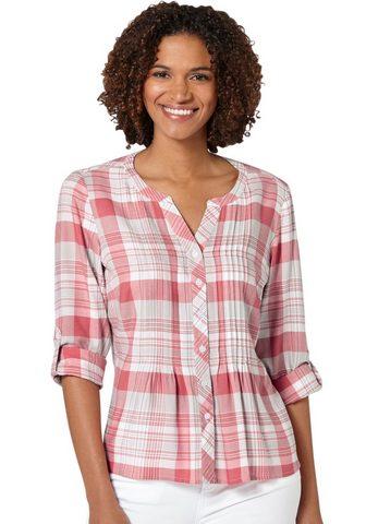 Блуза в lässigem Karo-Dessin
