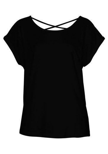 s.Oliver T-Shirt mit besonderem Bändchen-Detail im Rücken