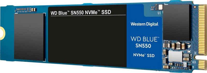 Western Digital »WD Blue™ SN550 NVMe™ SSD« SSD (500 GB) 2400 MB/S Lesegeschwindigkeit, 1750 MB/S Schreibgeschwindigkeit)