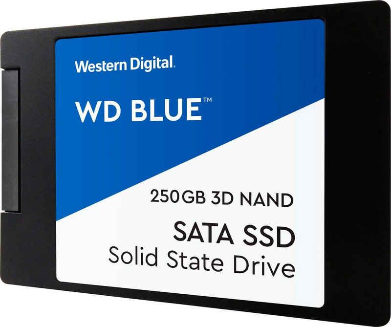 """Western Digital »WD Blue 3D NAND SATA« SSD (250 GB) 2,5"""" 560 MB/S Lesegeschwindigkeit, 530 MB/S Schreibgeschwindigkeit)"""
