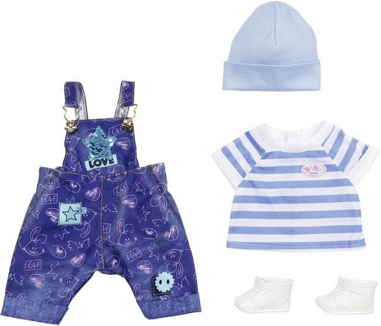 Zapf Creation® Puppenkleidung »BABY born® Deluxe Jeans Latzhosen Set« (Set)