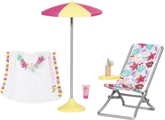 Baby Born Puppen Liegestuhl »Holiday Liegestuhl Set«, (Set)