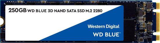 Western Digital »WD Blue 3D NAND SATA SSD« SSD (250 GB) 550 MB/S Lesegeschwindigkeit, 525 MB/S Schreibgeschwindigkeit)
