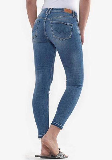 Le Temps Des Cerises 7/8-Jeans »KIEV« mit ausgefranster Kante am Beinabschluss