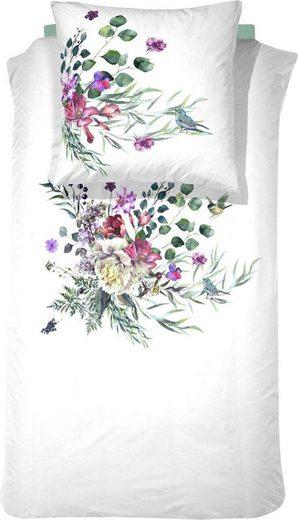 Bettwäsche »Abbey Flowers«, Cinderella, mit Blumen Aquarell-Print