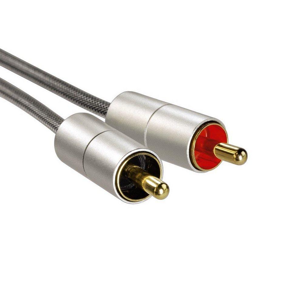 Hama Verbindungskabel AluLine Klinkenst. 3,5 mm, stereo - 2x in Silber