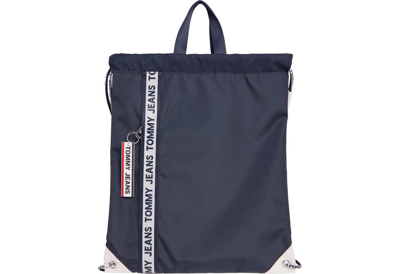 tommy jeans -  Cityrucksack »TJM LOGO TAPE DRAWSTRING NYL«, mit modischem Logo Schriftzug