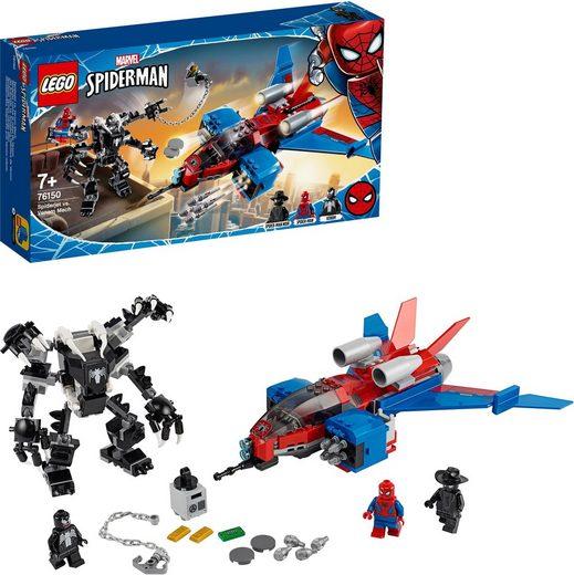 LEGO® Konstruktionsspielsteine »Spiderjet vs. Venom Mech (76150), LEGO® Marvel Super Heroes«, (371 St)