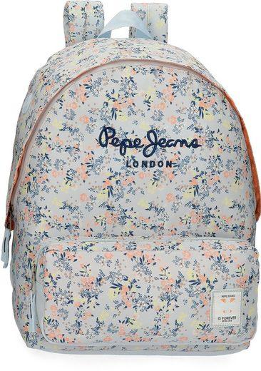 Pepe Jeans Freizeitrucksack »Malila, blau«, mit USB-Anschluss und Kopfhörerausgang