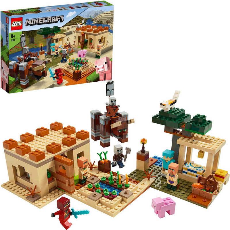 LEGO® Konstruktionsspielsteine »Der Illager-Überfall (21160), LEGO® Minecraft™«, (562 St), Made in Europe