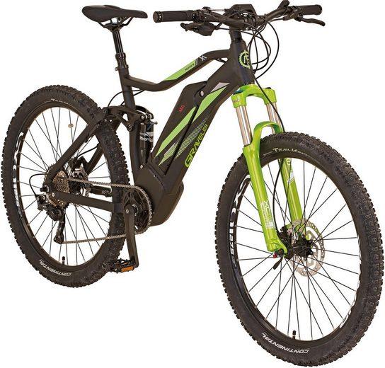 "Prophete E-Bike »GRAVELER E-MTB 27,5""«, 10 Gang Shimano Shimano XT Schaltwerk, Kettenschaltung, Mittelmotor 250 W"