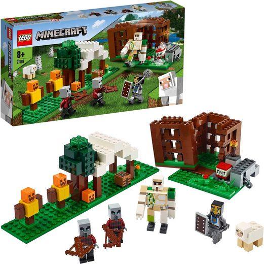 LEGO® Konstruktionsspielsteine »Der Plünderer-Außenposten (21159), LEGO® Minecraft™«, (303 St)